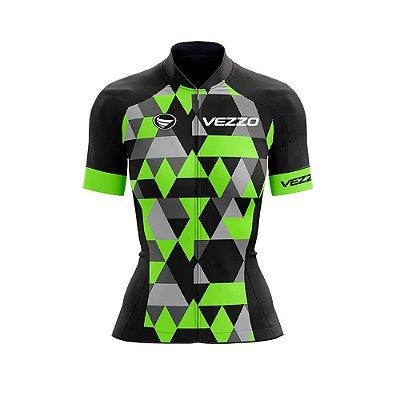 Camisa Ciclotour Feminina Vezzo Adamant Green