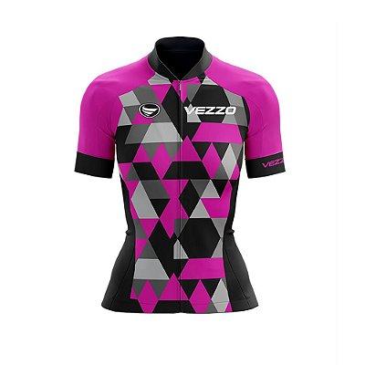 Camisa Ciclotour Feminina Vezzo Adamant Pink