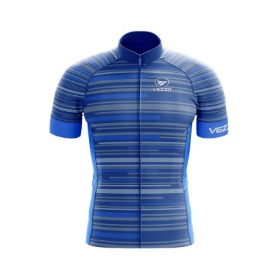 Camisa Ciclotour Masculina Vezzo Solid Blue