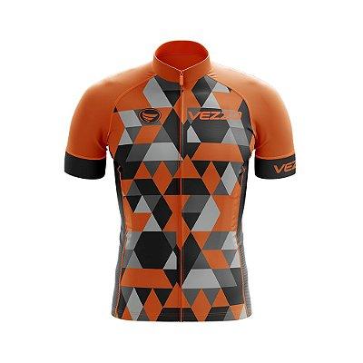 Camisa Ciclotour Masculina Vezzo Adamant Orange