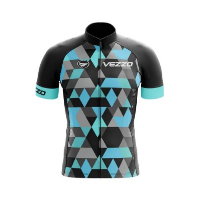 Camisa Ciclotour Masculina Vezzo Adamant Turquoise