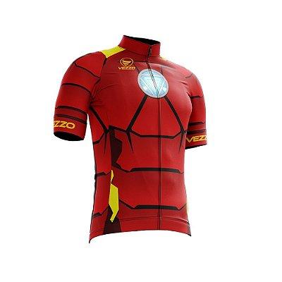 Camisa Ciclotour Infantil Menino Vezzo Homem de Ferro