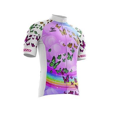 Camisa Ciclotour Infantil Menina Vezzo Borboletas