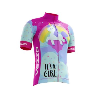 Camisa Ciclotour Infantil Menina Vezzo Unicorn