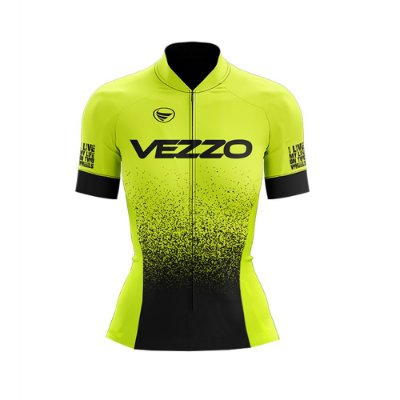 Camisa Ciclotour Feminina Vezzo FORZA - Flúor