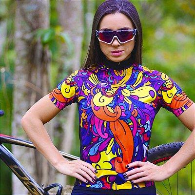 Camisa Ciclotour Feminina Vezzo PRINT