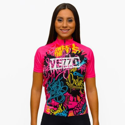 Camisa Vezzo Ciclotour Feminina Sweet