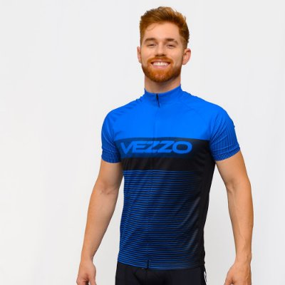 Camisa Vezzo Ciclotour Masculino Lightning Blue
