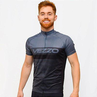 Camisa Vezzo Ciclotour Masculino Lightning Gray