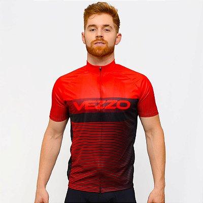 Camisa Vezzo Ciclotour Masculino Lightning Red