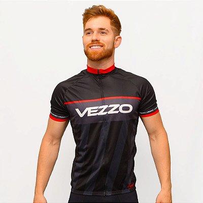 Camisa Vezzo Ciclotour Masculino Thunder Black