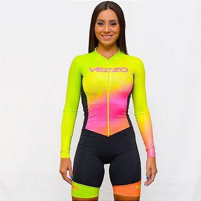 Macaquinho Ciclismo Vezzo Elektra - Flúor