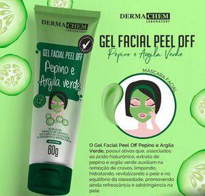 mascara de pepino e argila verde derma chem