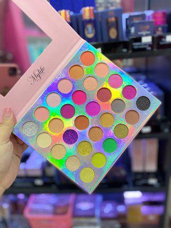 paleta de sombras 30 cores cor 02 (embalagem rosa) - mylife