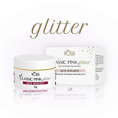 Gel Classic Pink Glitter Vòlia (24g)