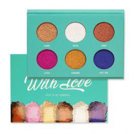 Paleta de Sombras 6 cores With Love - Mylife