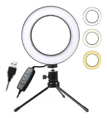 Ring Light de Mesa- 6 polegadas
