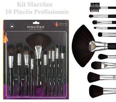Kit de 10 Pinceis Profissionais Macrilan KP9-1B