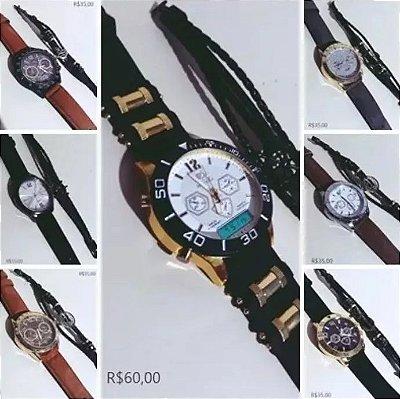 5048d229d42 Kit 10 Relógios Masculino Atacado Revenda!