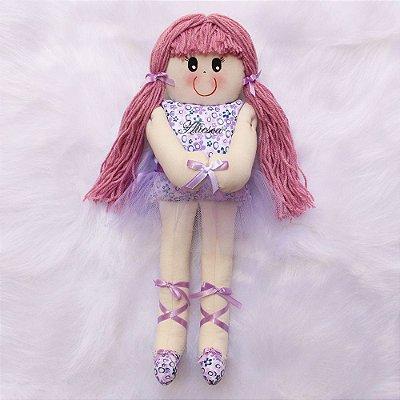 Boneca de Pano Bailarina Lilás