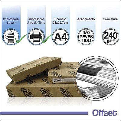 Offset 240g/m2, A4 (21x29,7cm) -  pacote 250fls.