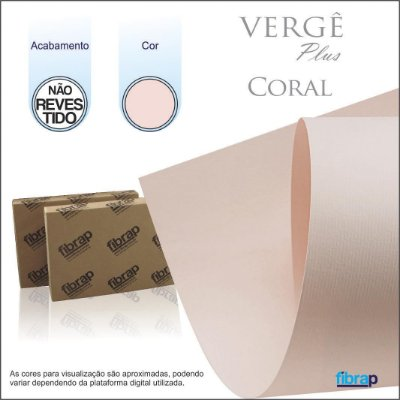 Vergê Coral,  pacote 100fls.