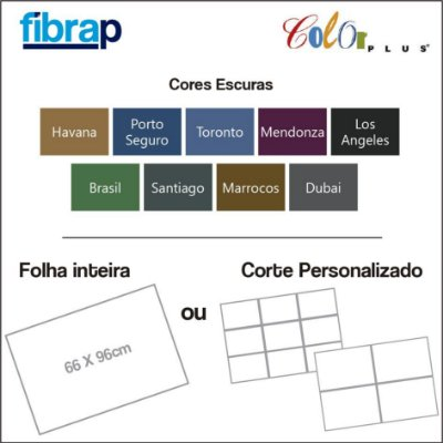 Color Plus Cores Escuras, 66x96cm ou cortes Personalizados.