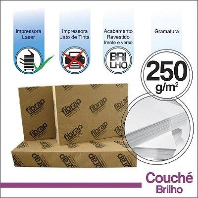 Couché Brilho 250g/m2,  -  pacote 200fls.