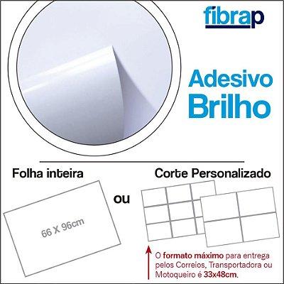 Adesivo Brilho/Couché, 66x96cm ou Corte Personalizado.
