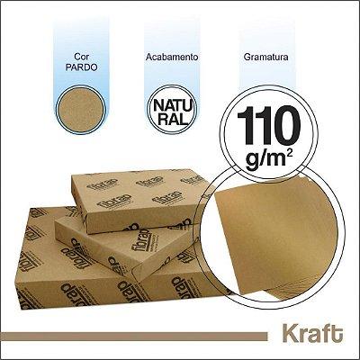 Kraft Natural 110g/m2, -  pacote 500fls.