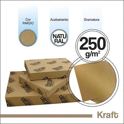 Kraft Natural 250g/m2, -  pacote 250fls.