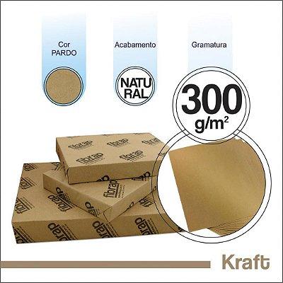 Kraft Natural 300g/m2, -  pacote 250fls.