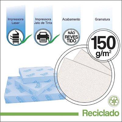 Reciclado 150g/m2,  pacote 250fls.