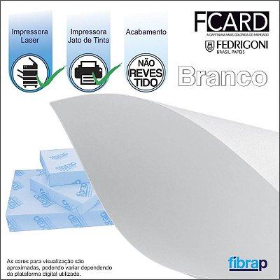 F Card Branco,  pacote 100fls.