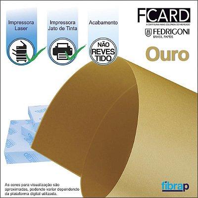 F Card Ouro,  pacote 100fls.