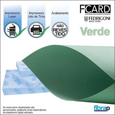 F Card Verde,  pacote 100fls.