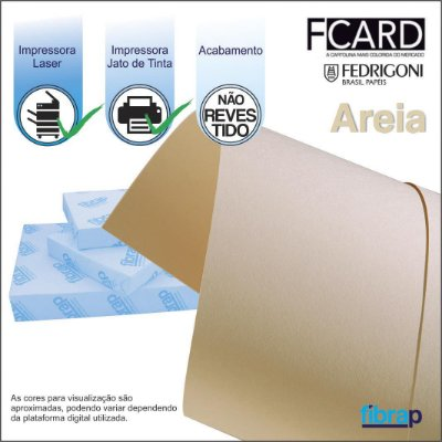 F Card Areia,  pacote 100fls.