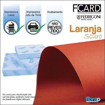 F Card Scuro Laranja,  pacote 100fls.
