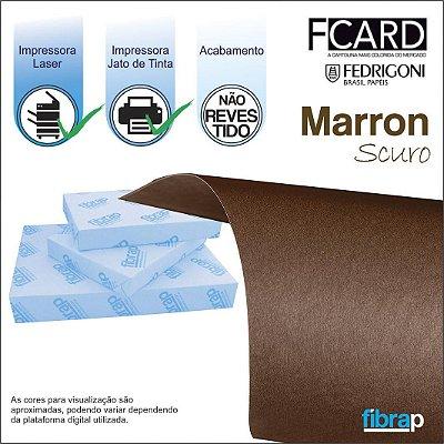 F Card Scuro Marrom,  pacote 100fls.