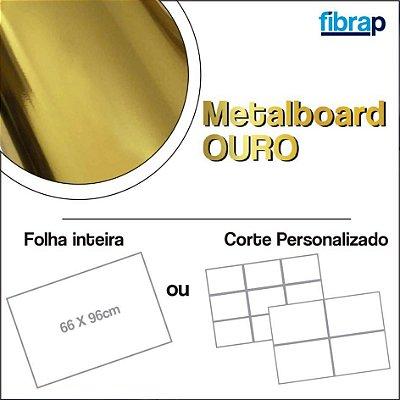 Metalboard Ouro 255 g/m2, 66x96cm ou cortes Personalizados.