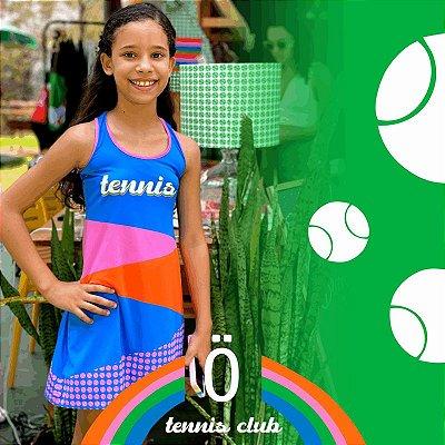 vestido  de TENNIS | nadador | .  estampa TENNIS BLUE . OTA .