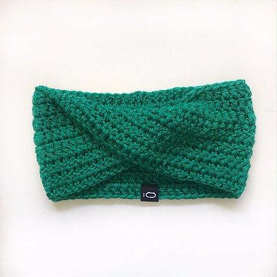 Gola de lã para bebê . verde bandeira
