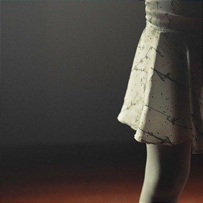 Saia de Ballet Infantil . estampa Camomilas White . OTA .