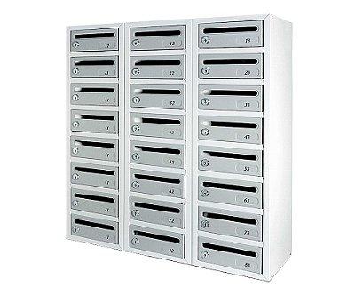 Caixa para Condomínio em Alumínio Polido - Premium - Armário para Correspondência