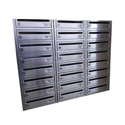 Caixa para Condomínio em Alumínio Polido