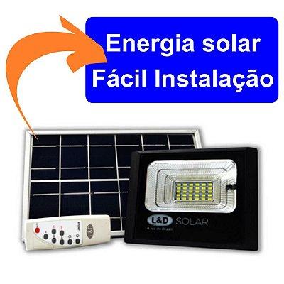 Refletor LED Energia Solar 30W