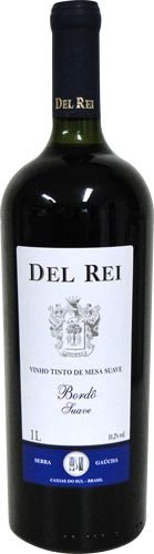 Vinho Del Rei Tinto Suave Bordo 1 L