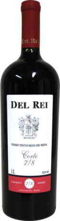 Del Rei - Vinho tinto seco de mesa Corte 7/8 1L