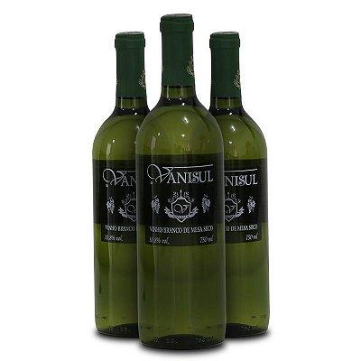 Vanisul - 3 un. -  Vinho de Mesa Branco Seco 750ml