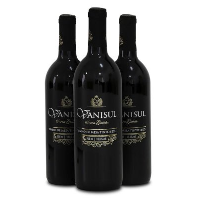 Vanisul - 3 Un - Vinho de Mesa Tinto Seco 750 ml